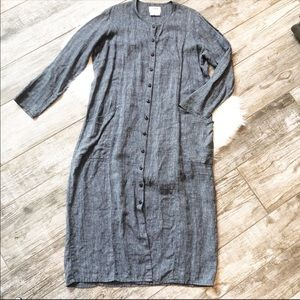 Flax by Jeanne Engelhart 100% Linen Dress